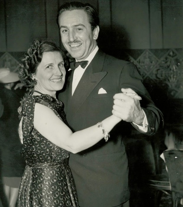 Walt Disney Dancing With his Wife Lillian