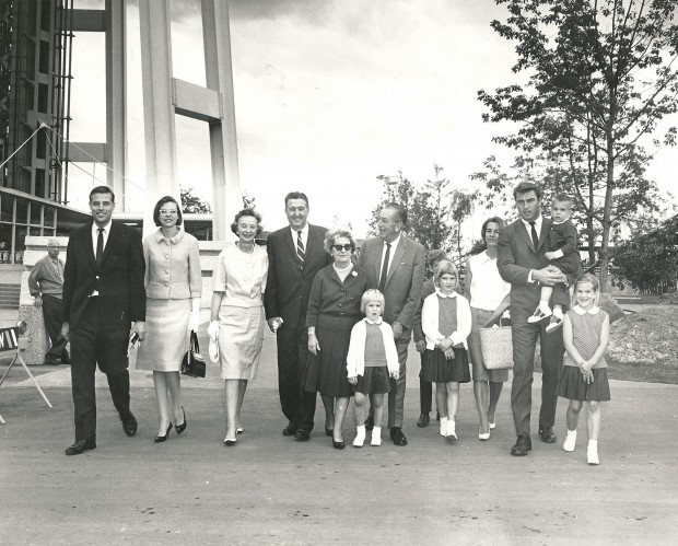 Walt Disney With his Family in 1962