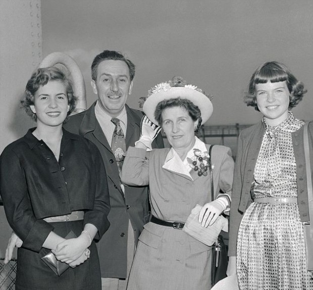 Walt Disney Family with Queen Elizabeth