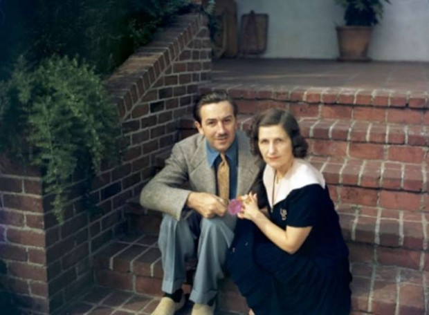 Walt Disney and his Wife Lillian