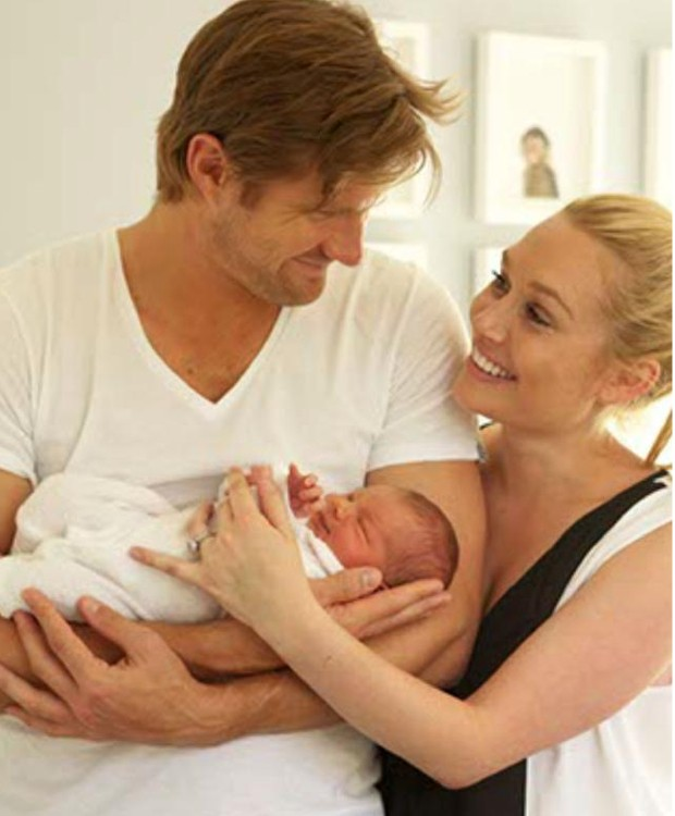 Shane Watson With His Daughter