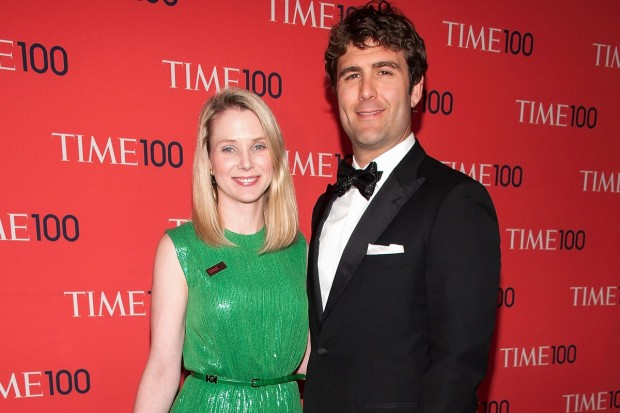 Yahoo CEO Marissa Mayer With Her Husband