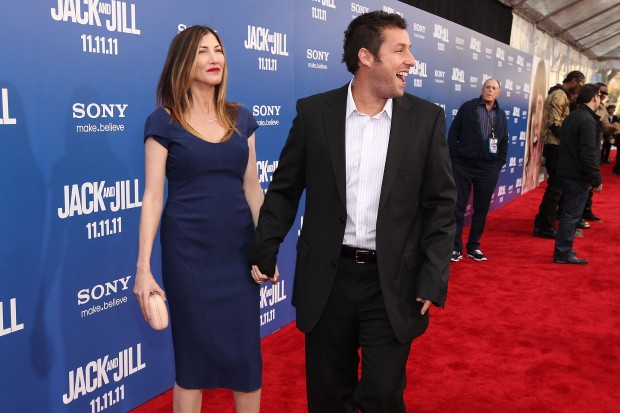 Adam and Jackie Sandler at an event