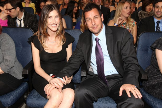 Adam Sandler with His Wife Jacquelline Sandler