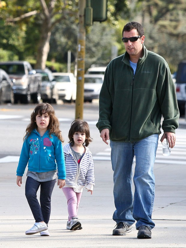 Adam Sandler with His Daughter Sadie and Sunny