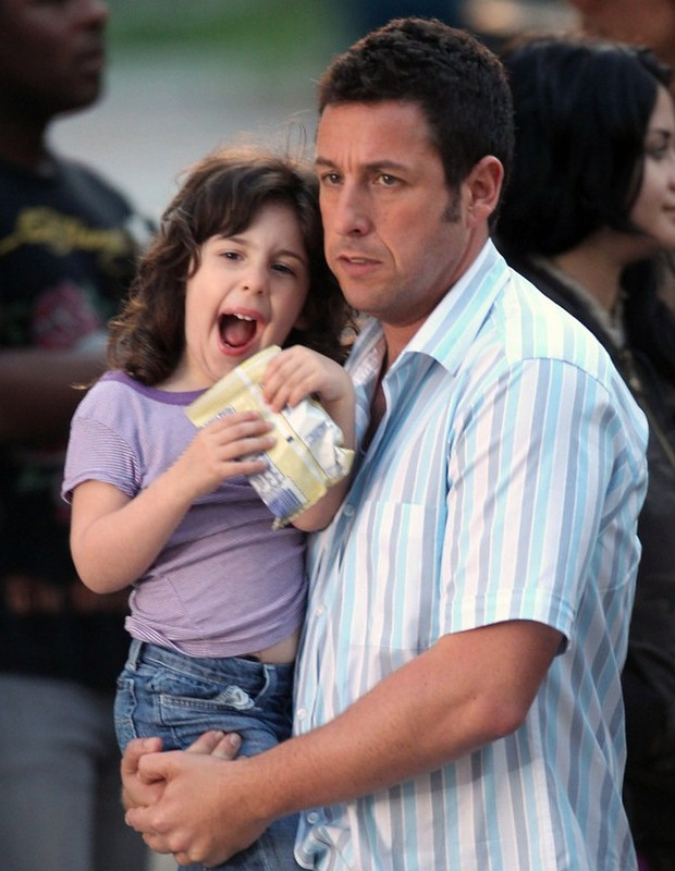 Adam Sandler with his daughter Sadie Sandler