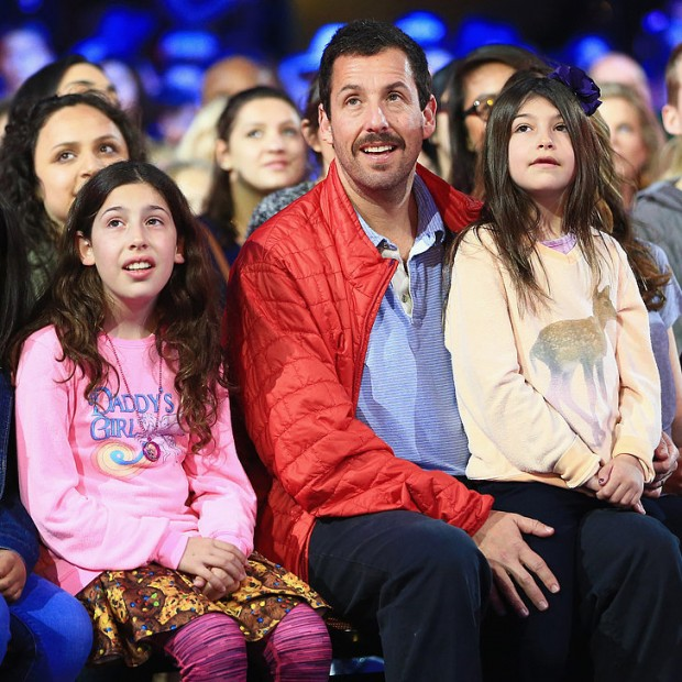 Adam Sandler with his kids at Kids Choice Awards