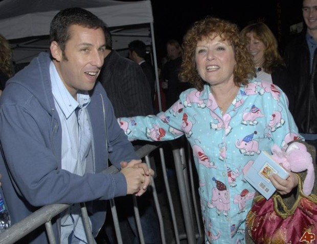 Adam Sandler with His Mother Judy Sandler