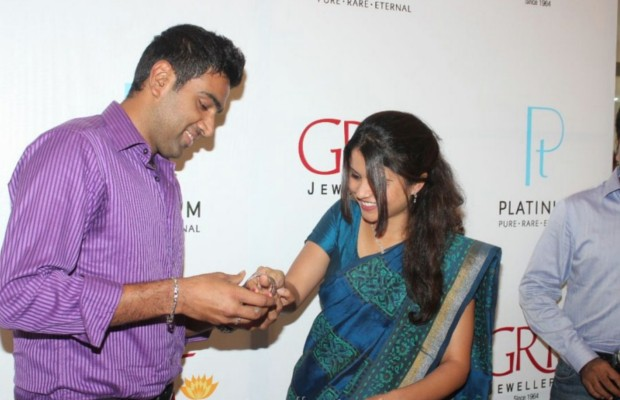 Ashwin with his wife Preethi Narayanan