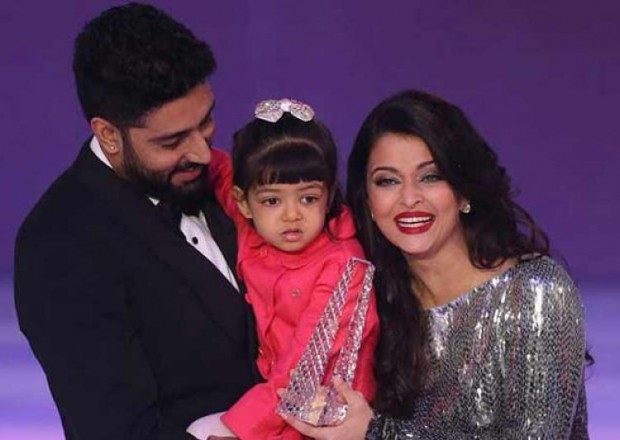 Abhishek and Aish with their daughter Aradhya Bachchan