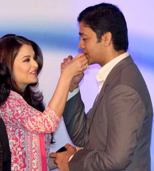 Aishwarya Rai with her brother Aditya Rai