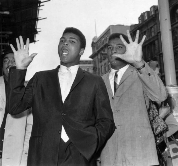 Muhammad Ali with his brother Rahman Ali