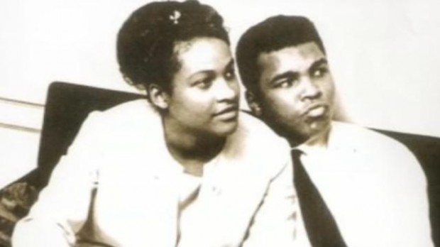 Muhammad Ali with his former spouse Khalilah Camacho Ali