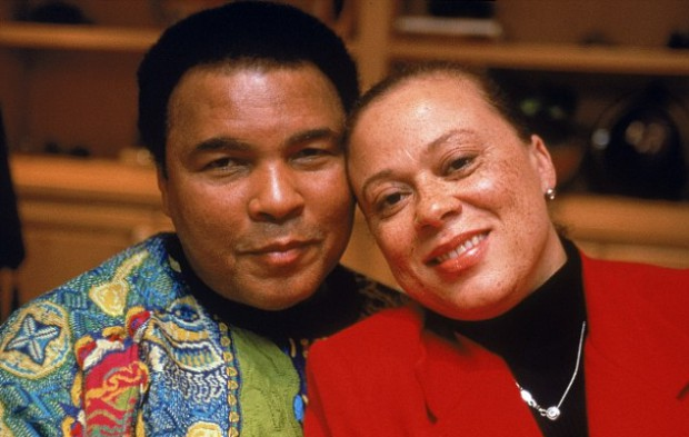 Muhammad Ali and his fourth wife Lonnie Williams Ali
