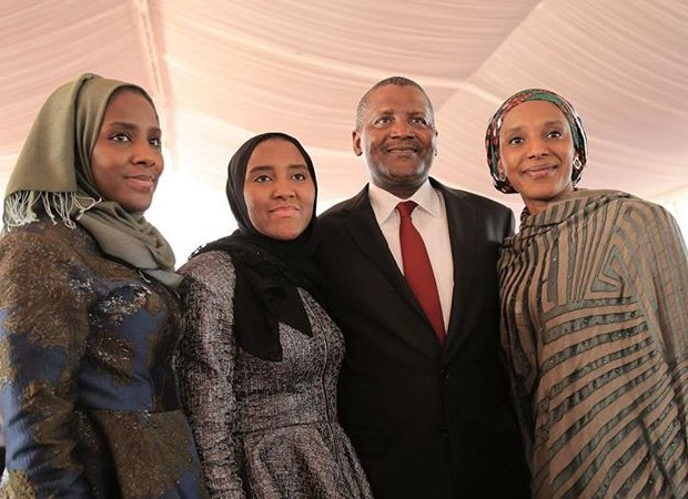 Aliko with his daughters