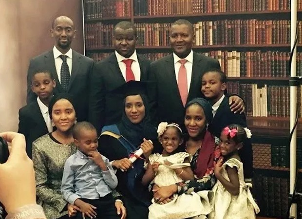 Aliko Dangote with His Family