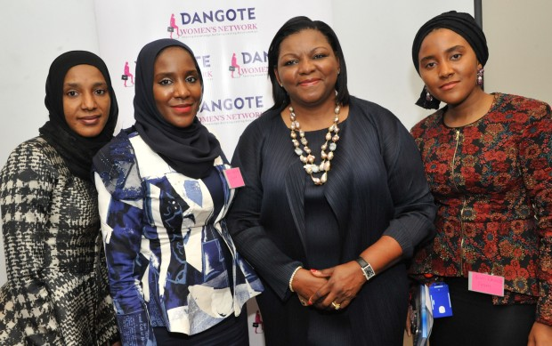 Mrs Bola Adesola with Aliko Daughters