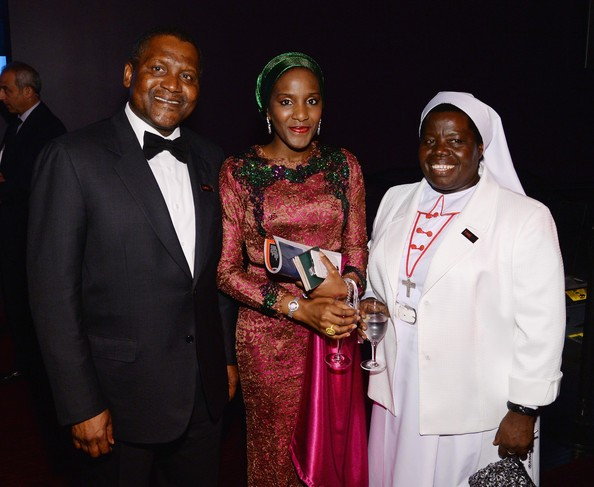 Halima with his father Aliko Dangote
