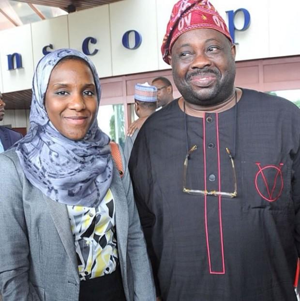 Dele Momodu with Halima Dangote
