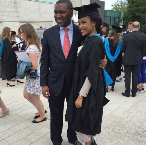 Alika Dangote at his niece Aziza Dangote Graduation