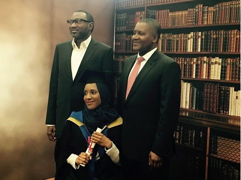 Aliko Dangote with her daughter Mariya Dantata