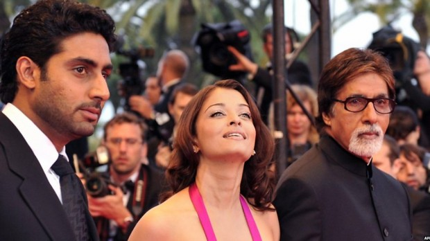 Abhishek Bachchan and His Wife Aishwarya Rai with Big B