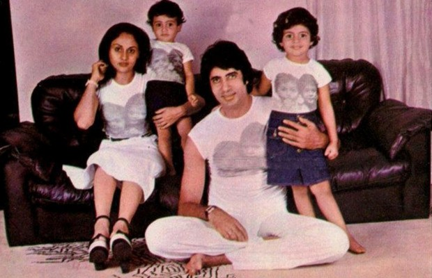 Amitabh and Jaya with Kids
