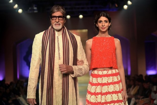 Amitabh with His Daughter Shweta Bachchan