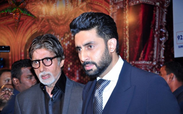 Amitabh with his son Abhishek Bachchan