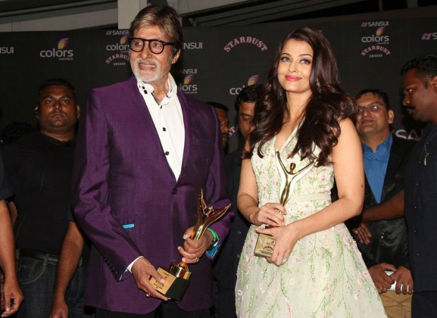 Amitabh with His Daughter-in-Law Aishwarya Rai at Startdust Awards