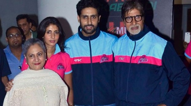 Amitabh with wife Jaya, son Abhishek and Daughter Shweta