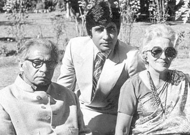 Amitabh with his Father Harivanshrai and Mother Teji Bachchan
