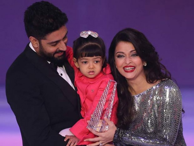 Abishek and Aishwarya with their daughter Aaradya Bachchan