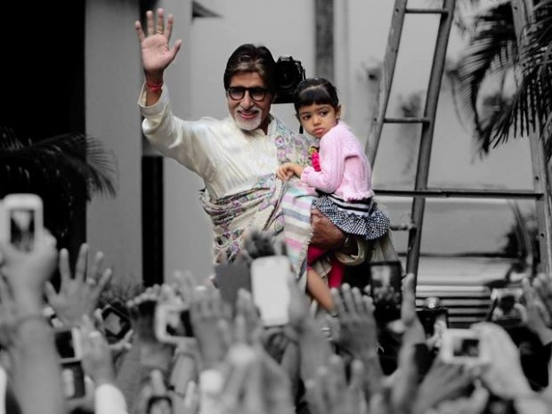 Amitabh with his grand daughter Aaradhya Bachchan