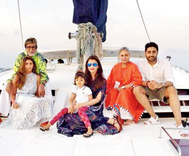 Big B on a vaction with family