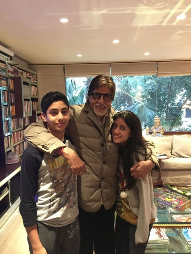 Amitabh with his duaghter's children