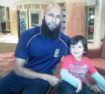 Hashim Amla with His Son