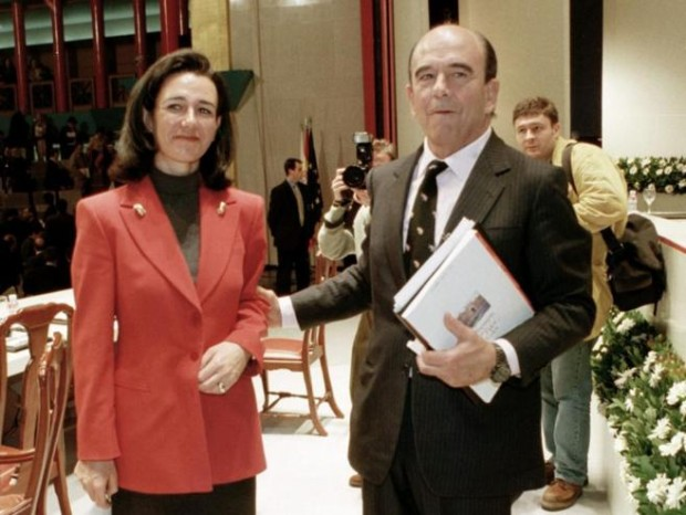 Ana Patricia Botin With Her Father Emilio Botin