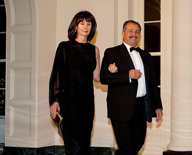 Andrew Liveris and his wife at state dinner hosted by U.S. President