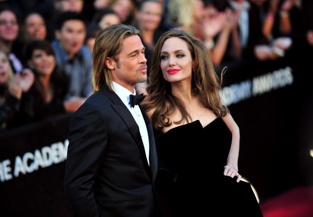 Angelina Jolie with Her Husband Brad Pitt