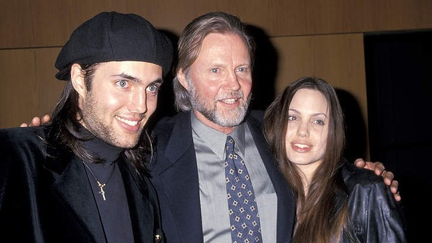 Angelina Jolie with her father Jon Voight and Brother James Haven