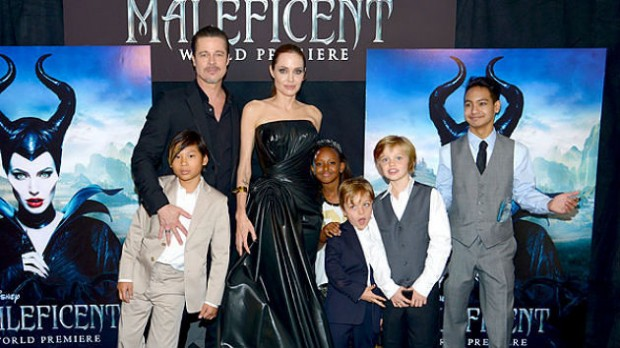 Family at Maleficent Premiere