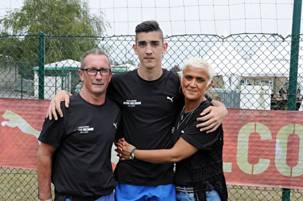 Griezmann's parents and brother