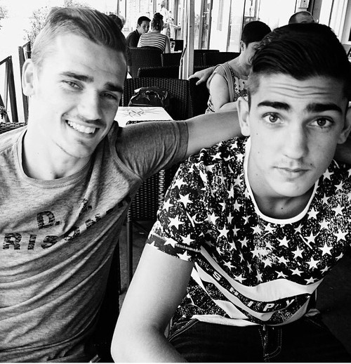 Antoine Griezmann and his brother Theo