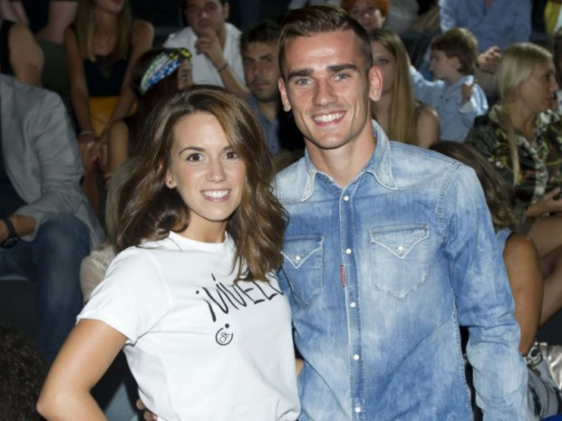 Antoine Griezmann with his partner Erika Choperena