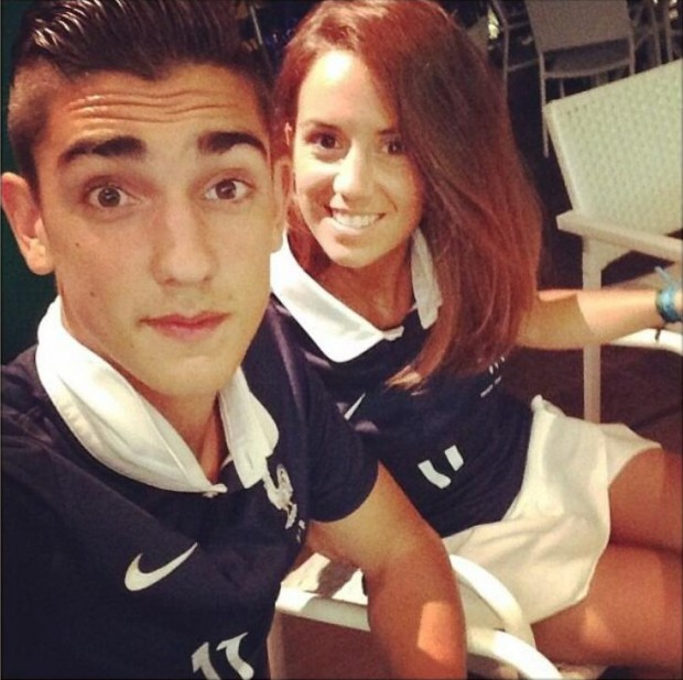 Erika with Theo Griezmann