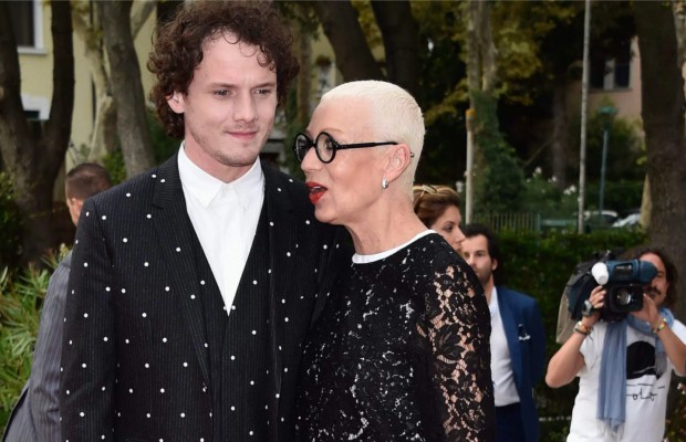 Anton Yelchin with his mother Irina Korina