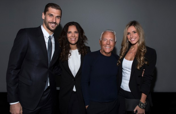Giorgio Armani and Roberta Armani with Fernando Llorente and Maria Llorente 38be132b7ff
