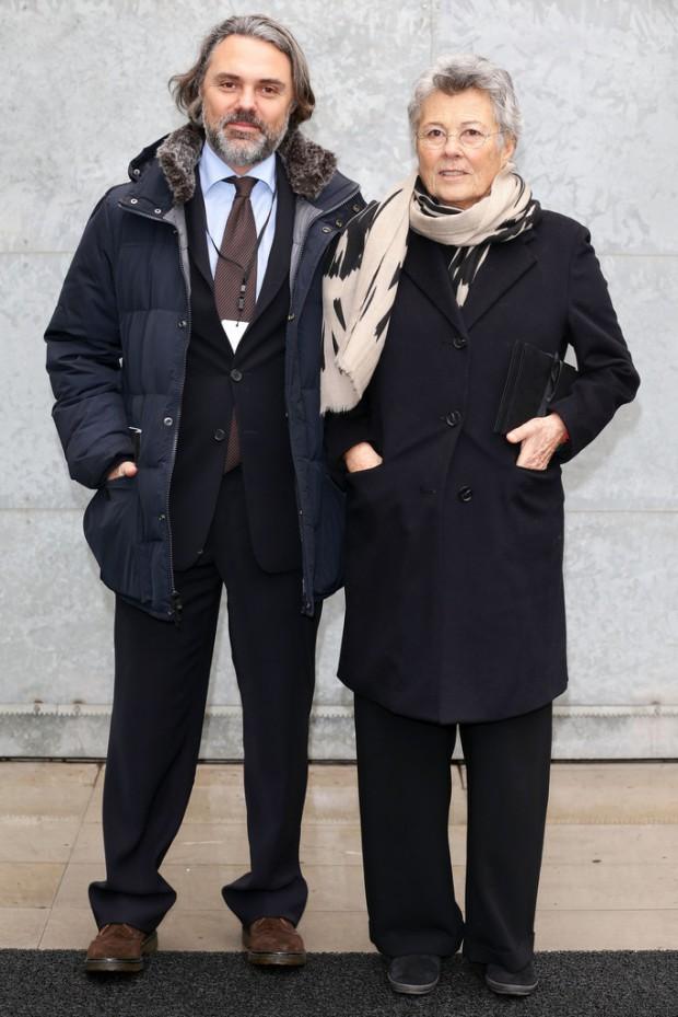 Giorgio Arman's sister Rosanna and his nephew Andrea Camerana