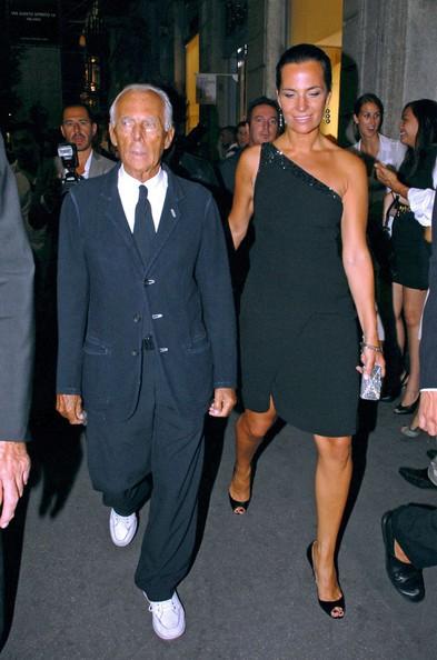 Girogio Armani and Roberta Armani